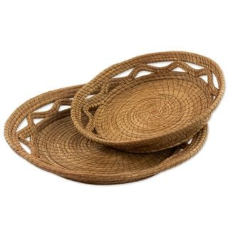 Handmade Pine Needle Catchalls, Set of 2 (Guatemala)