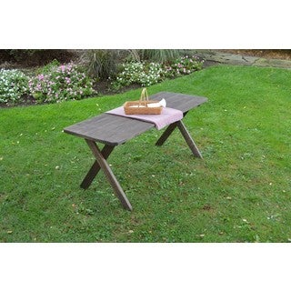 Pressure Treated Pine Cross Leg Picnic Table ONLY Walnut Stain - 4, 5, 6,or 8 Foot (4 options available)