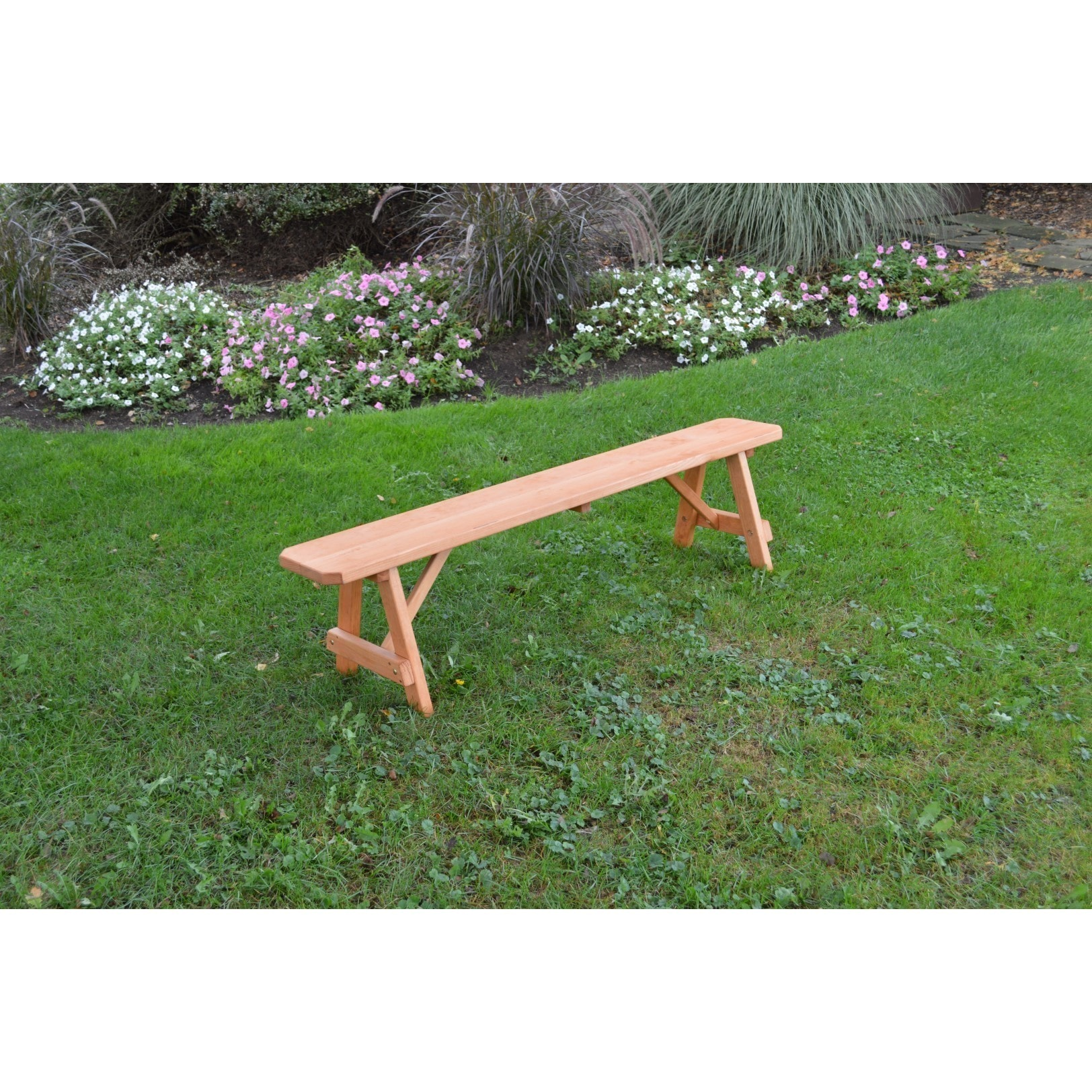 Pressure Treated Pine Traditional Bench Cedar Stain- 2, 3...