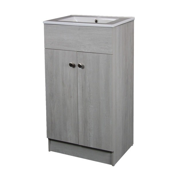 ceramic 19-inch sink-top single sink bathroom vanity in whitewash