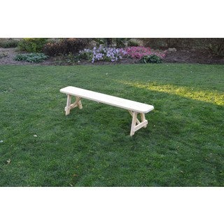 Pressure Treated Pine Unfinished Traditional Bench - 2, 3, 4, 5, 6, & 8 Foot