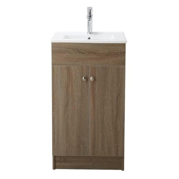 Oak 19 Inch Bathroom Vanity