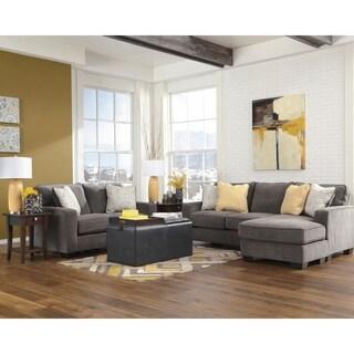 Signature Design by Ashley Hodan Living Room Set in Microfiber
