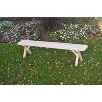 Pressure Treated Pine Unfinished Cross Leg Bench - 2, 3, 4, 5, 6, & 8 Foot