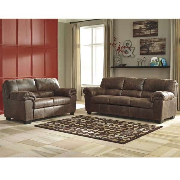 Signature Design By Ashley Bladen Living Room Set In Faux Leathert