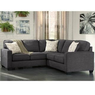 Signature Design by Ashley Alenya 2-Piece Sofa Sectional in Microfiber  sc 1 st  Overstock.com : gray sofa sectional - Sectionals, Sofas & Couches