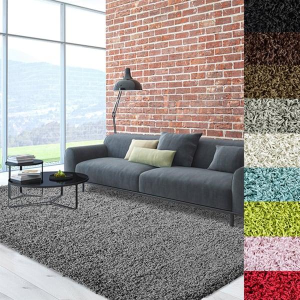 Attractive Cozy, Soft, And Dense Solid Color Shag Area Rug   9u0026#x27;