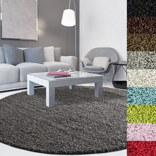 Cozy, Soft and Dense Shag Area Rug (8' Round) - 8'
