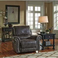Shop Benchcraft Breville Sofa In Faux Leather Free