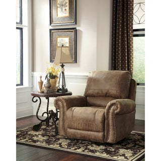 Signature Design by Ashley Larkinhurst Rocker Recliner in Faux Leather