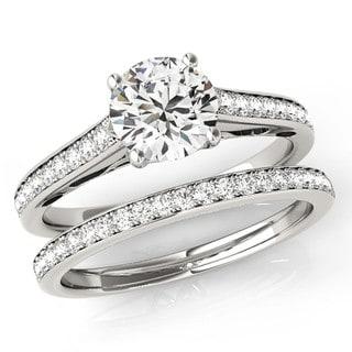 Scintilenora Filigree Scroll Certified Diamond Bridal Wedding Set 18k Gold 1 1/2 TDW
