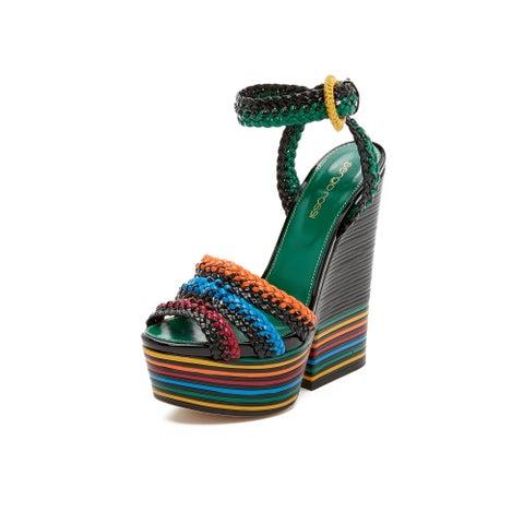 Sergio Rossi Women's Boavista Multicolored Leather Sandals