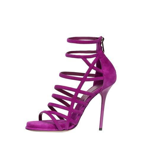 Paul Andrew Women's Ziya Purple Suede Shoes