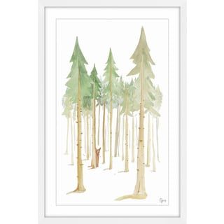'Cat in the Forest' Framed Painting Print