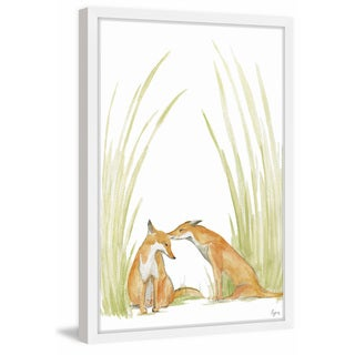 'Foxy Love' Framed Painting Print