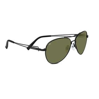 Serengeti Brando Unisex Satin Black Frame with Polarized 555nm Lens Sunglasses