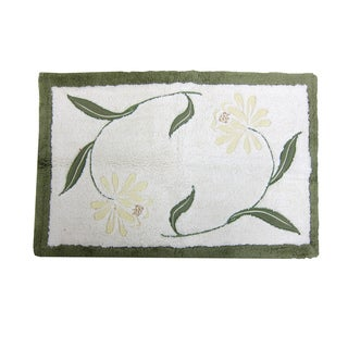 Croscill Penelope 20x30 Inch Embroidered Bath Rug