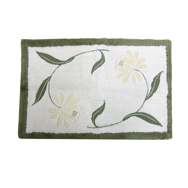 Croscill Penelope 20x30 Inch Embroidered Bath Rug