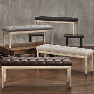 Avingdon Tufted Reclaimed 52-inch Upholstered Bench