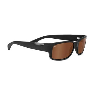 Serengeti Merano Unisex Satin Black Frame with Polarized Drivers Lens Sunglasses