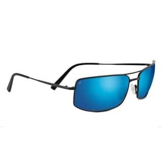 Serengeti Treviso Unisex Satin Black Frame with Polarized 555nm Blue Tint Lens Sunglasses|https://ak1.ostkcdn.com/images/products/15372211/P21832400.jpg?impolicy=medium