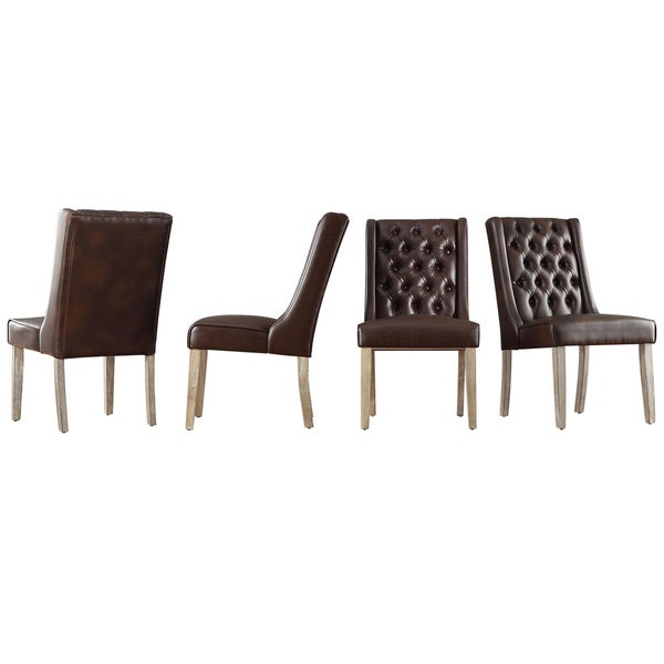 Avingdon Tufted Wingback Hostess Chairs (Set of 4)