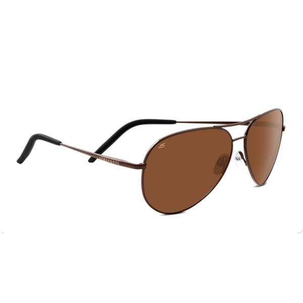21b2169519 Serengeti Carrara Unisex Shiny Gunmetal Frame with Polarized Drivers Lens  Sunglasses - Brown