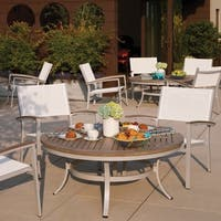 Oxford Garden Travira White Chat Chair, Set of 2