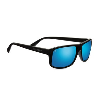 Serengeti Claudio Unisex Satin Dark Gray Frame with Polarized 555nm Blue Tint Lens Sunglasses