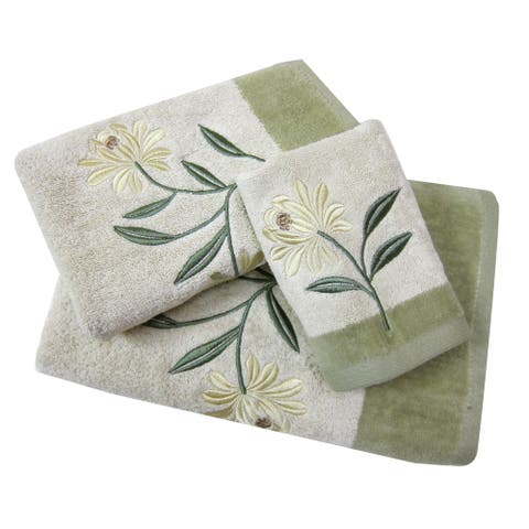 Croscill Penelope Embroidered Bath, Hand & Tip Towels