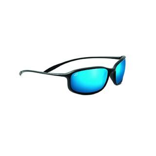 Serengeti Sestriere Unisex Satin Black Frame with Polarized 555nm Blue Tint Lens Sunglasses