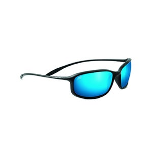 Serengeti Sestriere Unisex Satin Black Frame with Polarized 555nm Blue Tint Lens Sunglasses