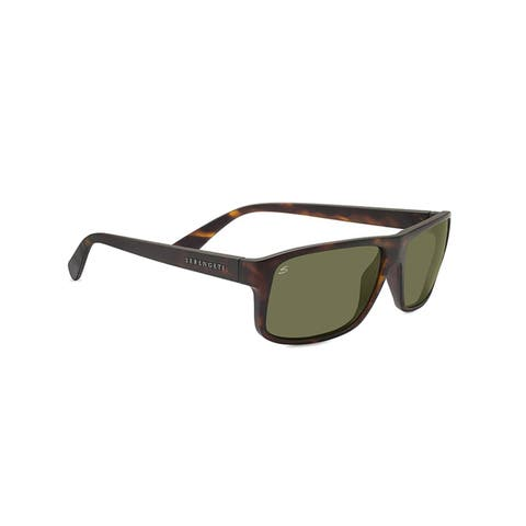 57565e4e94 Serengeti Claudio Unisex Satin Dark Tortoise Frame with Polarized 555nm  Lens Sunglasses - Multi
