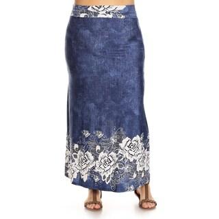 Women's Plus Size Floral Lace Maxi Skirt