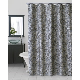 beige and black shower curtain. homewear bella woven shower curtain beige and black