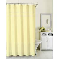 Homewear Sunny Day Seersucker Yellow Shower Curtain
