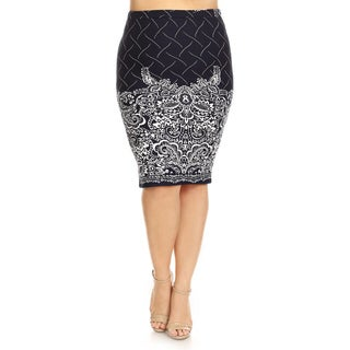Women's Plus Size Floral Pencil Skirt