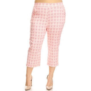 Women's Plus Size Circle Pattern Slim Fit Pants