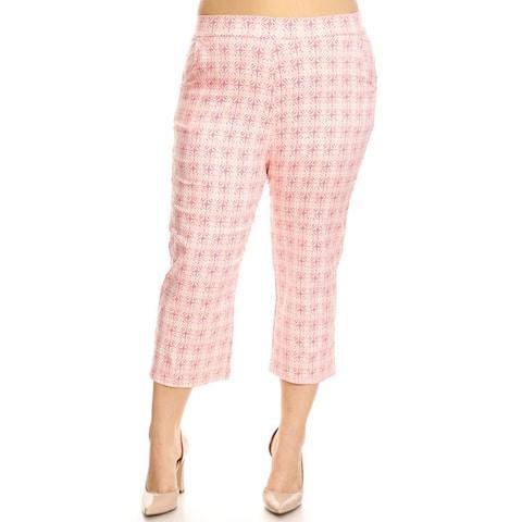 Women's Plus Size Circle Pattern Slim Fit Pants
