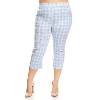 Women's Plus Size Circle Pattern Slim Fit Pants (More options available)