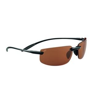 Serengeti Lipari Unisex Shiny and Satin Black Frame with Polarized Drivers Lens Sunglasses