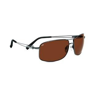 Serengeti Sassari Unisex Shiny Gunmetal Frame with Polarized Drivers Lens Sunglasses