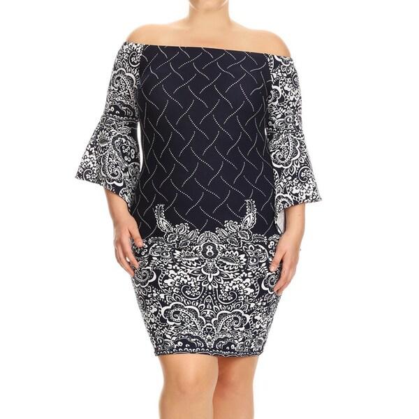 Women's Plus Size Floral Lace Bodycon Dress