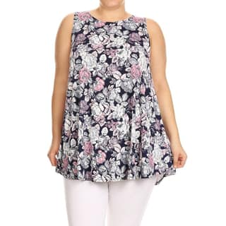 Women's Plus Size Floral Sleeveless Tunic|https://ak1.ostkcdn.com/images/products/15372285/P21832471.jpg?impolicy=medium