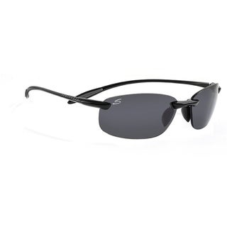 Serengeti Nuvola Unisex Shiny Black Frame with Polarized CPG Lens Sunglasses