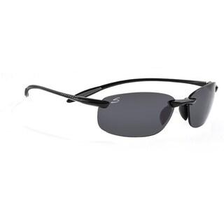 Serengeti Nuvola Unisex Shiny Black Frame with Polarized CPG Lens Sunglasses