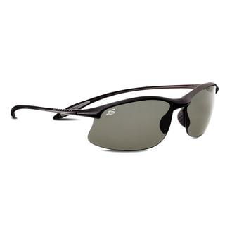 Serengeti Maestrale Unisex Satin Black Frame with Polarized CPG Lens Sunglasses