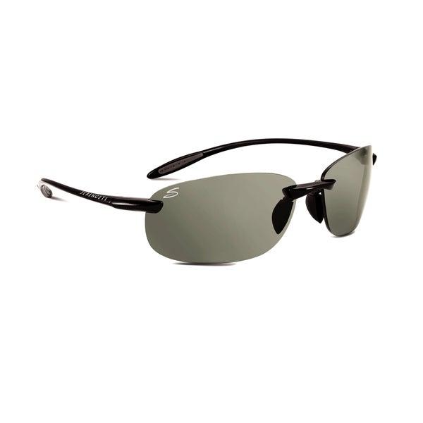 77296b6b1aa Shop Serengeti Nuvino Unisex Shiny Black Frame with Polarized CPG Lens  Sunglasses - Free Shipping Today - Overstock - 15372294