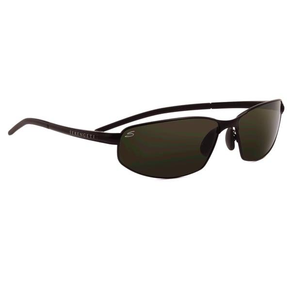 Serengeti Classic Granada Unisex Satin Black Frame with Polarized 555nm  Lens Sunglasses 74079206896e