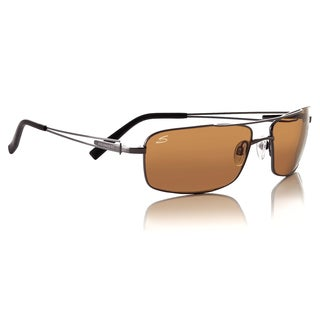 Serengeti Dante Wire-Flex Unisex Gun Metal Frame with Polarized Drivers Lens Sunglasses